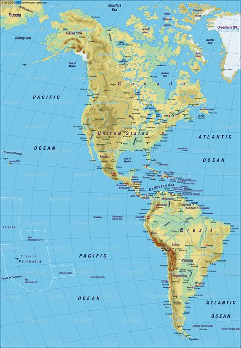 the americas map map of america map of the world physical map in the