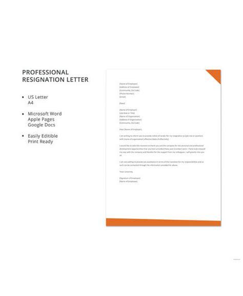 letter resignation samples ms word