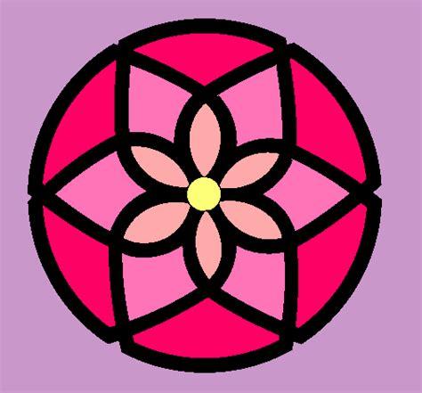 imagenes de mandalas faciles pintados dibujo de mandala 44 pintado por flores en dibujos net el