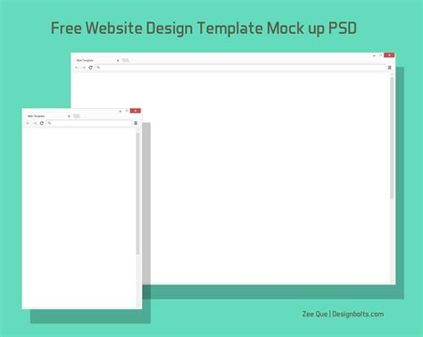 mock up template free browser website design template mock up psd