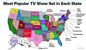 show map from the most popular tv show set in each state in one