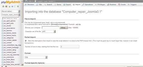 computer repair database template joomla computer repair website template installation guide