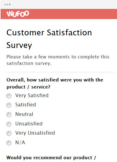 Online Survey Form - online form template wufoo