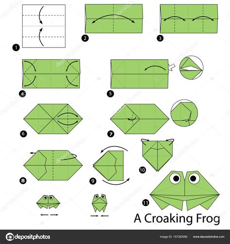 Origami Frog Step By Step - how to make origami frog choice image craft decoration ideas