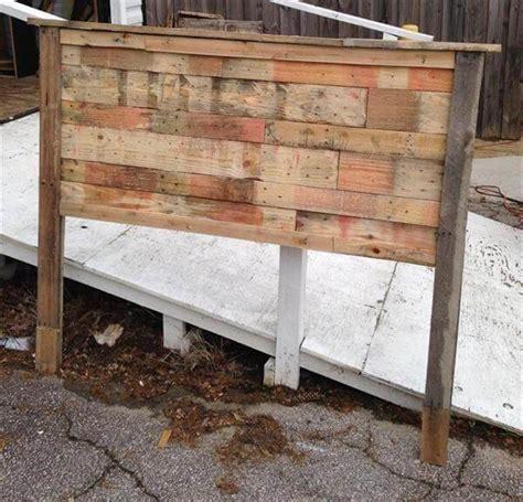 wooden queen size headboards pallet queen size headboard pallet furniture diy