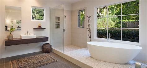 Modern Spa Bathroom by Allen Construction Experts In Luxury Bathroom Remodels
