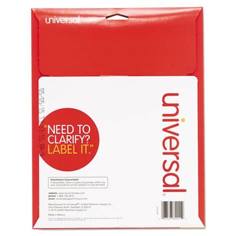unv80011 universal 174 laser printer file folder labels zuma