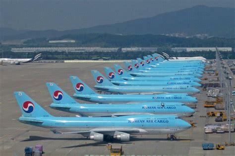 korean air cargo x13 via airline staff aviation