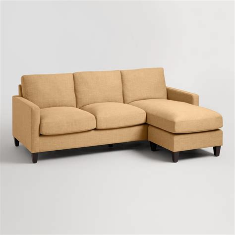 world market abbott sofa maize textured woven abbott sofa world market