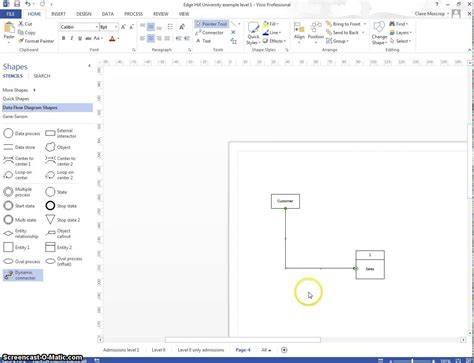 dfd in visio basic visio how to creating dfd s