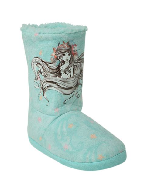 the mermaid slippers disney the mermaid sketch slipper boot topic