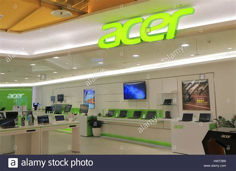 shop android acer computer shop at syntrend shopping mall in taipei taiwan stock photo royalty free image