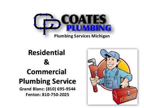 Mi Plumbing by Coates Plumbing Michigan Plumbers For Home And Commercial