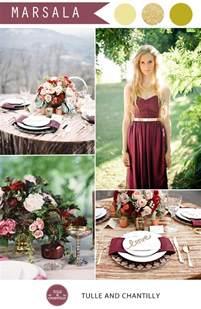 fall wedding colors 2015 pantone marsala wedding color combo ideas color of the