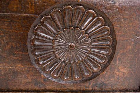 antique scottish 18th century jacobean carved oak coffer