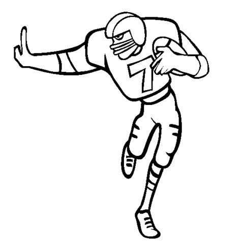 coloring pages sports football football coloring pages 7