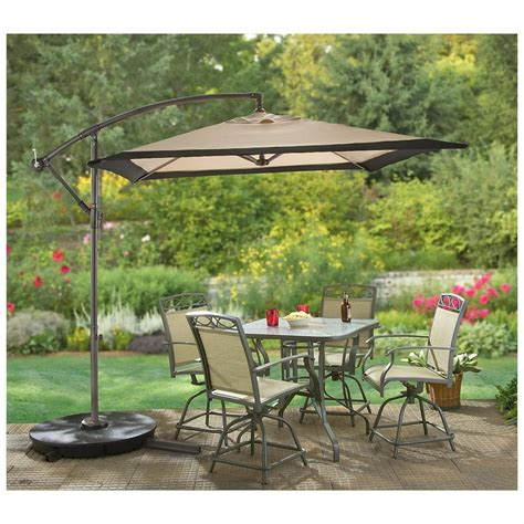 Outdoor Patio Dining Sets With Umbrella Canvas Garden Umbrella Combined Wrought Iron Outdoor Dining Set Of Stylish Rectangle Patio