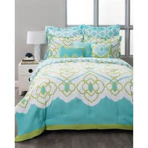 style nest aqua bed in a bag 8 bedding set