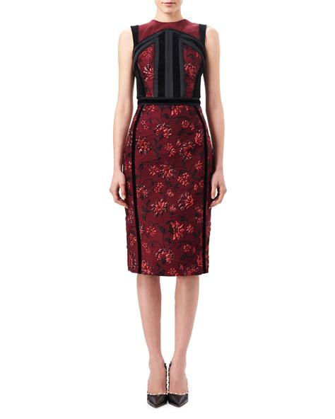 Lorenza Dress altuzarra lorenza floral jacquard sheath dress with velvet