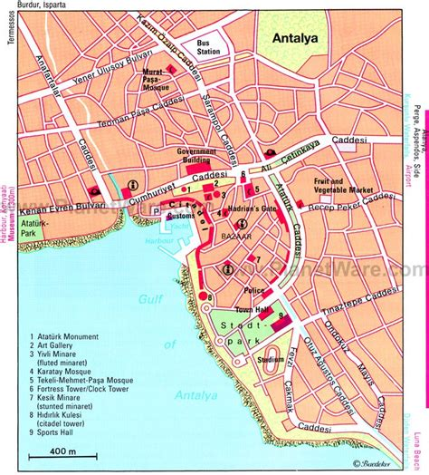 printable tourist map of turkey 14 top rated tourist attractions in antalya planetware