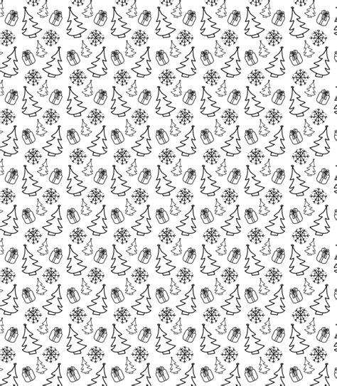 white xmas pattern hand drawn christmas themed seamless vector pattern