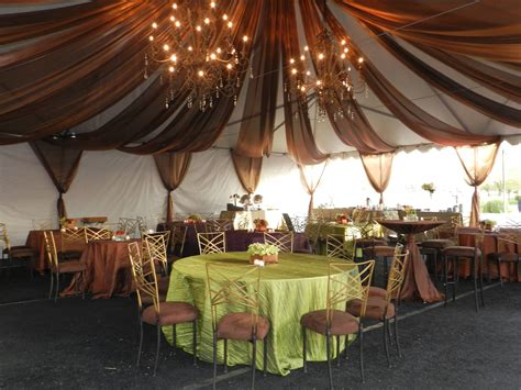 how to drape a tent ceiling encore room copper ceiling fabric drape tables in tent
