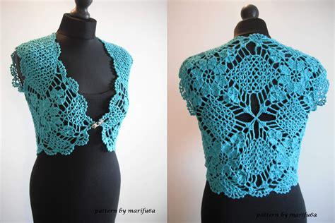how to crochet mint bolero shrug chaleco free pattern