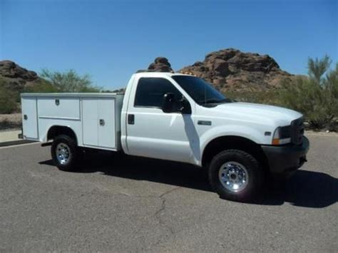 harbor utility bed purchase used 2004 ford f 350 reg cab xl super duty 4x4 w
