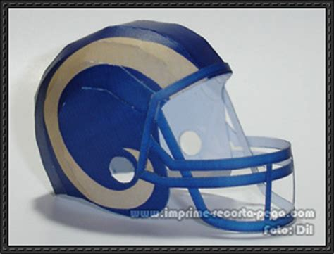 How To Make A Paper Football Helmet Step By Step - st louis rams nfl helmet free paper model