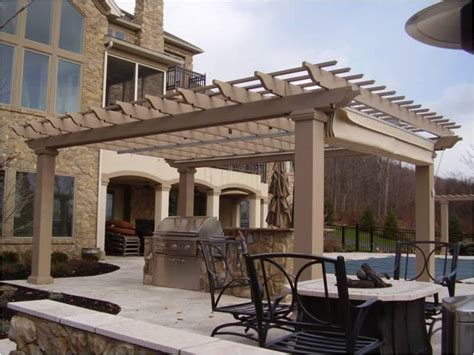 Fiberglass Patio Cover by Pergola Kit Free Standing Fiberglass Square Column
