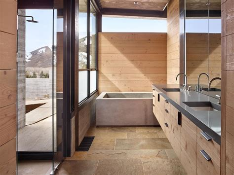 modern industrial bathroom this modern mountain house is filled with industrial
