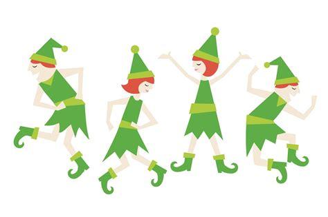 dancing christmas elves