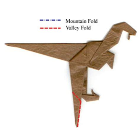 Origami Velociraptor - how to make a simple origami velociraptor page 9