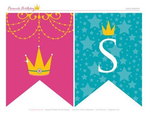 printable disney banner free printables sparkly disney princess birthday party