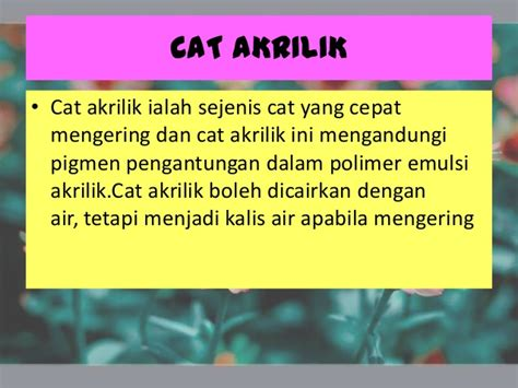 Cat Akrilik Kering cat akrilik