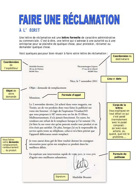 Exemple Lettre De Remerciement Formelle 192 L 201 Crit Une Lettre De R 233 Clamation Est Une Lettre Formelle De Caract 232 Re Administrative Ou