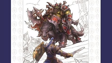 libro starcraft warcraft colouring there s now an official warcraft coloring book blizzard watch