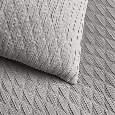 bettdecke textur ripple texture duvet cover shams platinum west elm