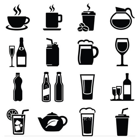 drink vector drinks icons vector graphic ai format free vector