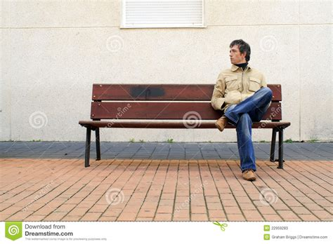 waiting on a bench waiting stock photos image 22959283