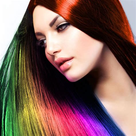 History Of Hair Color Fields Of Color | hair color switch hairstyle swap face photo salon on the
