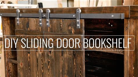 create  diy sliding door bookshelf youtube