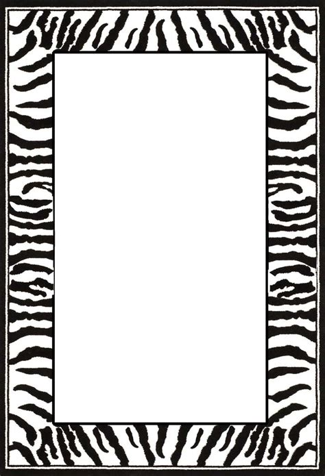 print paper with zebra print boarder clipart best