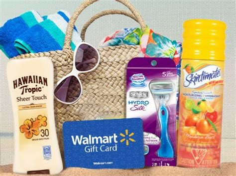 Hot Topic Gift Card Walmart - win a summer gift basket walmart gift card razor sunscreen and more
