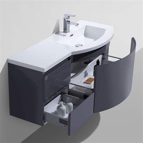 """Alya Bath AT 8110 RS 48"""" Single Modern Wall Mount Bathroom"""