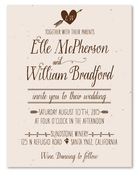 what does it when a wedding invitation says black tie optional plantable wedding invitations on seeded paper by