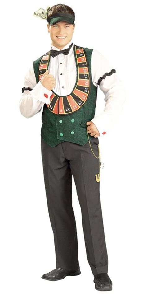Tarty Costumes by Rubies Mens Casino High Roller Card Dealer Fancy Dress