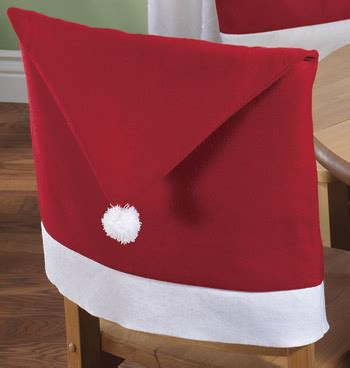 santa hat dining chair covers