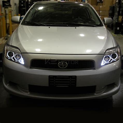 halo headlights scion tc 05 10 scion tc dual halo led projector headlights w