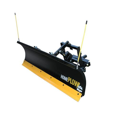 snow plow snowbear winter wolf 88 in x 26 in snow plow with 2 point custom mount and actuator